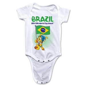 Brazil 2014 FIFA World Cup Brazil(TM) Mascot Flag Onesie (White)