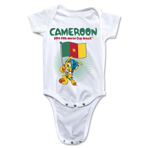 Cameroon 2014 FIFA World Cup Brazil(TM) Mascot Flag Onesie (White)