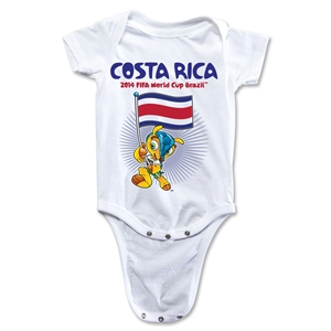 Costa Rica 2014 FIFA World Cup Brazil(TM) Mascot Flag Onesie (White)