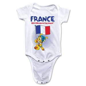 France 2014 FIFA World Cup Brazil(TM) Mascot Flag Onesie (White)
