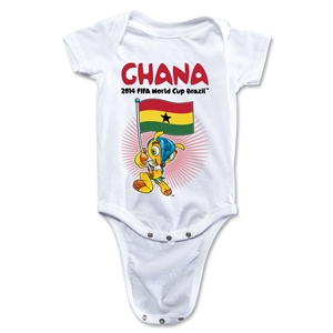 Ghana 2014 FIFA World Cup Brazil(TM) Mascot Flag Onesie (White)