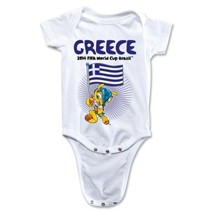Greece 2014 FIFA World Cup Brazil(TM) Mascot Flag Onesie (White)