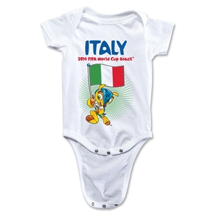 Italy 2014 FIFA World Cup Brazil(TM) Mascot Flag Onesie (White)