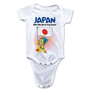 Japan 2014 FIFA World Cup Brazil(TM) Mascot Flag Onesie (White)