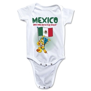 Mexico 2014 FIFA World Cup Brazil(TM) Mascot Flag Onesie (White)