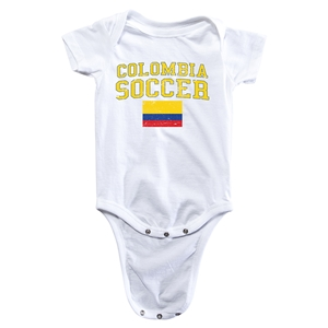 Colombia Soccer Onesie (White)
