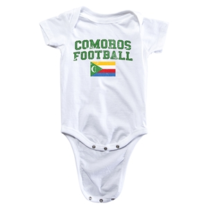 Comoros Football Onesie (White)
