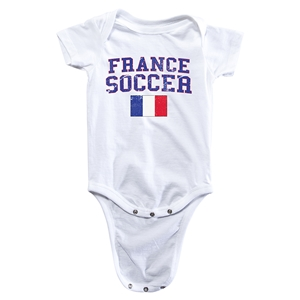 France Soccer Onesie (White)