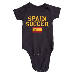 Spain Soccer Onesie (Black)