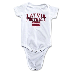 Latvia Football Onesie (White)