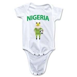 Nigeria Animal Mascot Onesie (White)