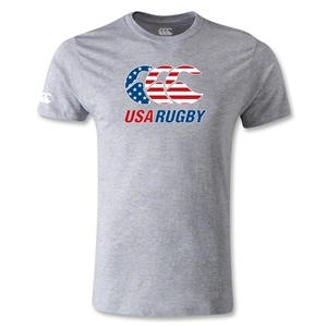 USA Rugby Stars and Stripes T-Shirt (Gray)