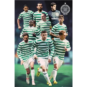 Celtic 12/13 Players Poster