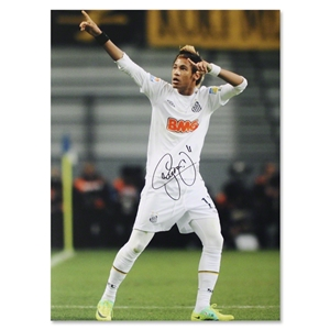Icons Neymar Signed Brazil Photo