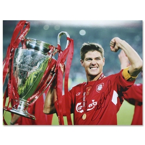 Icons Steven Gerrard Signed Liverpool's Captain Print