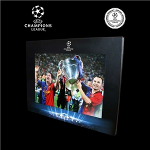 Icons Official UEFA Champions League Signed Andres Iniesta Photo