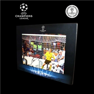 Icons Official UEFA Champions League Leo Messi Signed 2009 Final Goal Photo