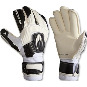 HO Soccer Performance Roll Goalkeeper Gloves (White/Black)