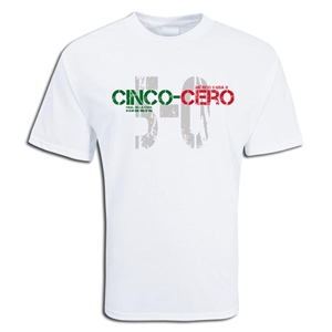 Mexico 5 v 0 USA T-Shirt (White)