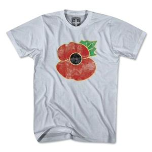 England Poppy Remembrance T-Shirt (White)