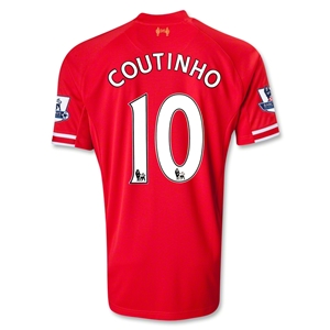 Liverpool 13/14 COUTINHO Home Soccer Jersey
