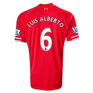 Liverpool 13/14 LUIS ALBERTO Home Soccer Jersey