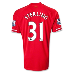 Liverpool 13/14 STERLING Home Soccer Jersey