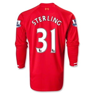 Liverpool 13/14 STERLING LS Home Soccer Jersey