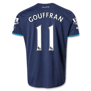 Newcastle United 13/14 GOUFFRAN Away Soccer Jersey