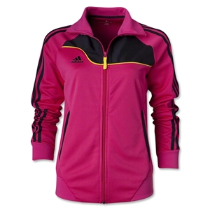 adidas Women's Speedtrick Track Jacket (Black/Pink)
