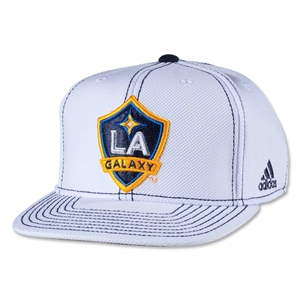 LA Galaxy Flat Brim Snap Back Cap