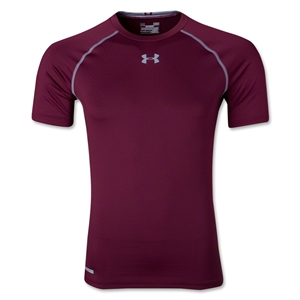 Under Armour Heatgear Sonic Compression T-Shirt (Maroon)