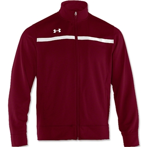 Under Armour Women's Campus Warm-Up Jacket (Maroon/Wht)