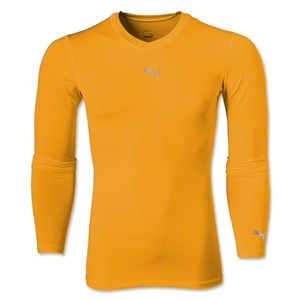 PUMA Lite LS V-Neck T-Shirt (Neon Orange)