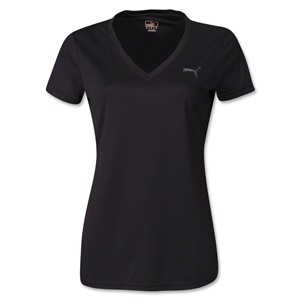 PUMA Women's V-Neck Training T-Shirt (Black)