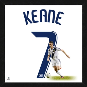 LA Galaxy Keane 20x20 Uniframe Jersey Photo