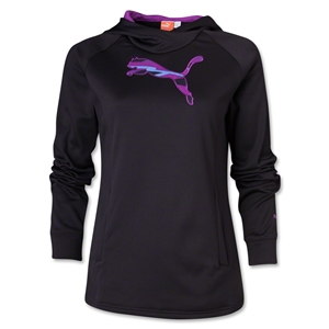 PUMA Women's Ess Gym Cat Hoody (Black)
