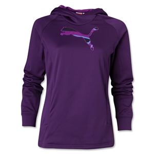 PUMA Women's Ess Gym Cat Hoody (Purple)