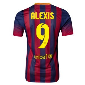 Barcelona 13/14 ALEXIS Authentic Home Soccer Jersey