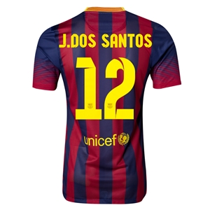 Barcelona 13/14 J. DOS SANTOS Authentic Home Soccer Jersey