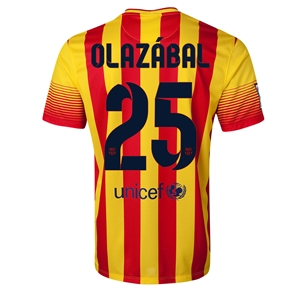 Barcelona 13/14 OLAZABAL Away Soccer Jersey