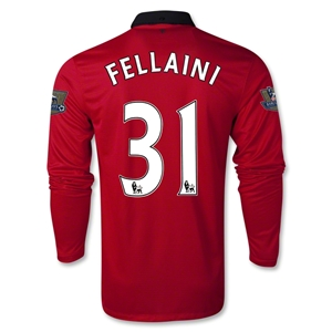 Manchester United 13/14 FELLAINI LS Home Soccer Jersey