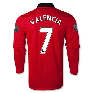 Manchester United 13/14 VALENCIA LS Home Soccer Jersey