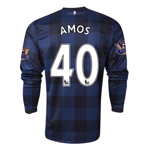 Manchester United 13/14 AMOS LS Away Soccer Jersey