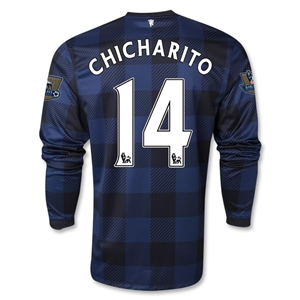 Manchester United 13/14 CHICHARITO LS Away Soccer Jersey