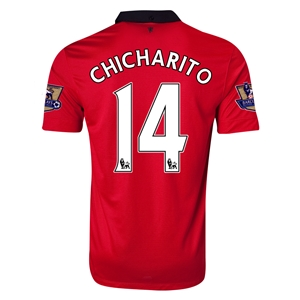 Manchester United 13/14 CHICHARITO Home Soccer Jersey