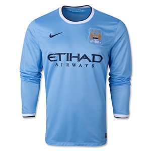 Manchester City 13/14 LS Home Soccer Jersey