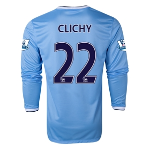 Manchester City 13/14 CLICHY LS Home Soccer Jersey