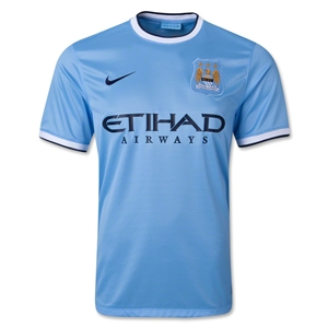 Manchester City 13/14 Home Soccer Jersey