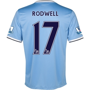 Manchester City 13/14 RODWELL Home Soccer Jersey